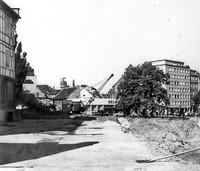 Der Ägidienmarkt 1971: Verbreiterung der Fahrbahn