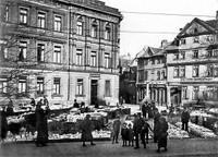 Der Ägidienmarkt März 1935: Topfmarkt, Blick zur Mandelnstraße