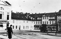 Der Augustplatz 1938: Dannes Hotel, Ecke Auguststraße