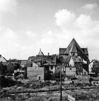 Die Auguststraße 1955 mit Spohrplatz und St. Aegidien