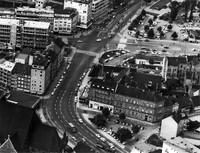 Die Stobenstraße 11. September 1961: Luftbild aus südlicher Richtung
