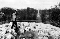 Der Windmühlenberg März 1959: Beginn der Abtragung