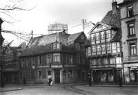 1936: Stobenstraße - Ecke Rosenhagen, Blick vom Ägidienmarkt