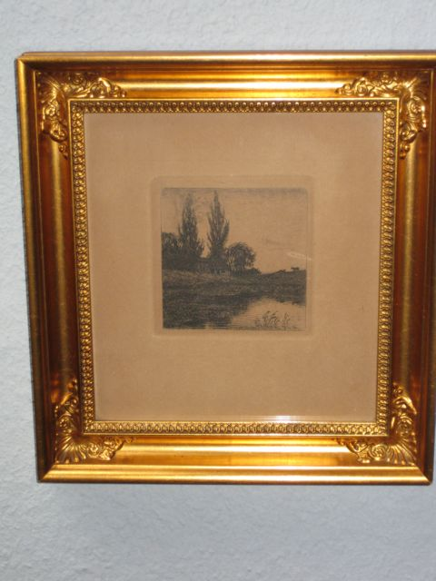 Maler : Axel Holm , geboren 1863 in Rödby , org. 1896  , Grösse : 20x20 cm , Radierung ,€ 180,-