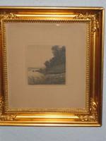 Maler : Axel Holm , geboren 1863 in Rödby , org. 1896  , Grösse : 20x20 cm , Radierung , € 180,-