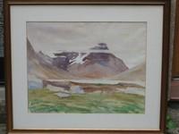 Maler : Bent Hansen , Grönland , org.1955 , Farbaquarell , Grösse : 72x85 cm , € 275,-       VERKAUFT