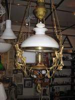 Hänge-Petroleumlampe : ca.1900 , € 465,- alle Teile stammen von 1900, keinerlei neue Teile!