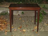 kleiner Tisch , massiv Mahagoni , ca.1950 , € 135 ,- Tischplatte : 40 x 60 cm  VERKAUFT