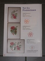 3  Stickvorlagen  von Haandaebejdets Fremme.  Rosen mit Hagebutten