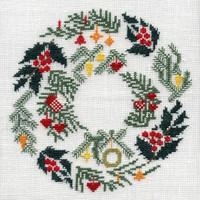 hempel-10-weihnachtskranz grösse: 19x19 cm , stickpackung € 21,-