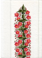 hempel-3-herbstanemone als läufermotiv grösse : breite 9 cm , musterrapport 21 cm , stickpackung ohne stoff € 12.-