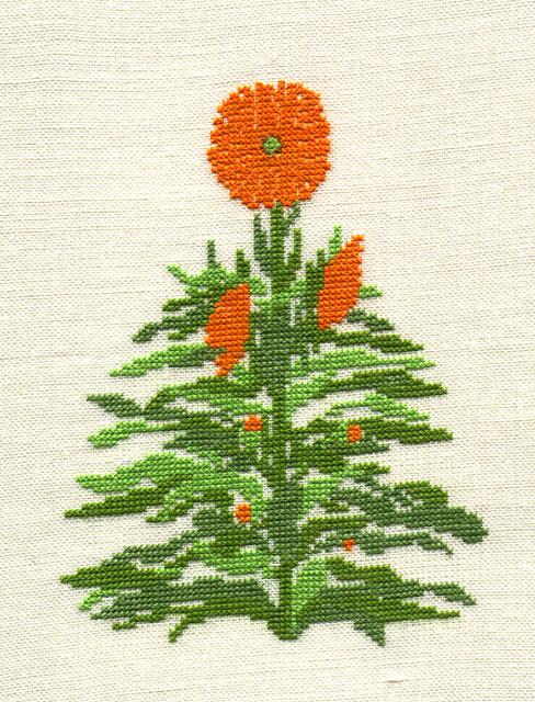 hempel-6-ringelblume grösse : 12x16 cm , stickpackung € 11,-