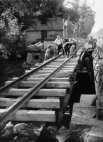 Trümmerbahn am Augusttor