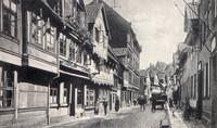 Ritterstrasse in Richtung Gaußschule, von Kuhstr. aus gesehen, vor 1900(?). Siehe auch 1942