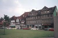 Langedammstraße 1976, mit Schuhwarenhaus und Lindener Eierhof.