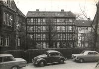 Hinter der Magnikirche, Blick zur Herrendorftwete, links der Kindergarten (1970er)