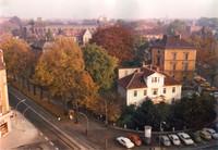 Blick vom Städtischen Museum auf Magnitorwall und Steintorwall (1970er)
