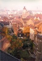 Blick vom Städtischen Museum Richtung St. Magni, Rückseite der Ritterstrasse 25-23 (1970er)