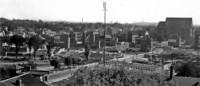 06. September 1949: Blick vom Rathausturm auf den Bohlweg und das Gelände das zukünftigen Karrenführer Platzes