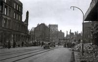 Nach dem 15. Oktober 1944: Bohlweg, Blick nach Süden von Café Börner zu St. Aegidien